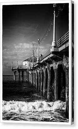Canvas Print featuring the photograph Old Manhattan Pier by Michael Hope