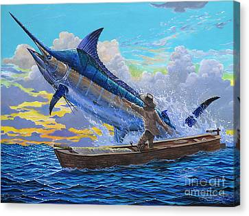 Old Man And The Sea Off00133 Canvas Print by Carey Chen