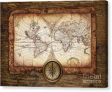 Old Maps Canvas Print by Christo Grudev