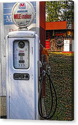 Old Marathon Gas Pump Canvas Print