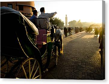Old Marrakesh Scene Canvas Print by David Smith