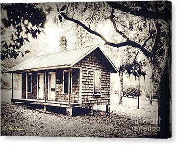 Old Masonboro Slave Cottage Canvas Print by Phil Mancuso