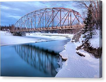 Old Matanuska River Bridge Near Palmer Canvas Print