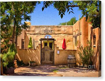 Old Mesilla Wine Tasting Room Canvas Print by Priscilla Burgers