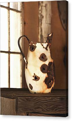 Old Metal Pitcher Canvas Print by Art Block Collections