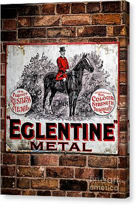 Old Metal Sign Canvas Print by Adrian Evans