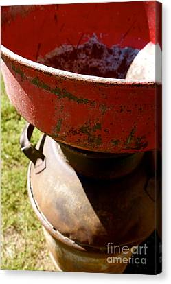 Old Milk Can Canvas Print by Jacqueline Athmann