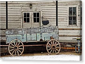 Old Mill And Wagon Canvas Print by Cheryl Cencich