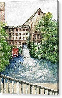 Old Mill Aqueduct Canvas Print by Elle Smith Fagan