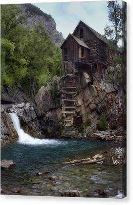 Crystal Mill Canvas Print - Old Mill At The Crystal River by Ellen Heaverlo