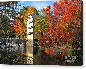 Old Mills Canvas Print - Old Mill Bed And Breakfast  0223 by Jack Schultz