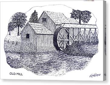 Old Mill Canvas Print by Frederic Kohli