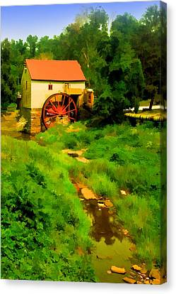 Old Mill In Springtime Canvas Print