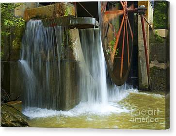 Old Mill Water Wheel Canvas Print by Paul W Faust -  Impressions of Light