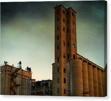 Old Buffalo Grain Mills Canvas Print by Gothicrow Images