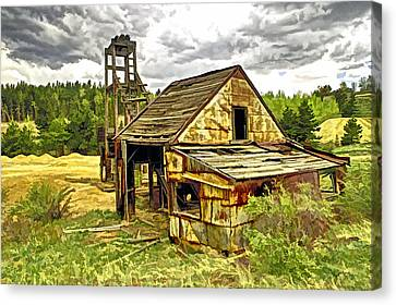Old Mine In Central  City Co Canvas Print by James Steele