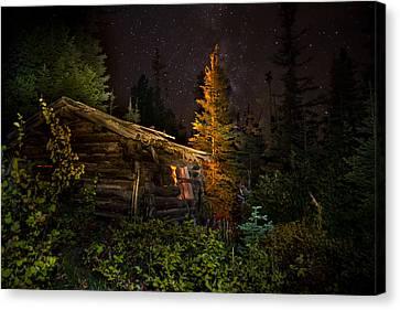 Old Miner's Cabin Canvas Print by Mark Mesenko