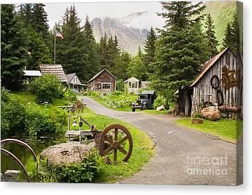 Old Mining Alaskan Town Canvas Print
