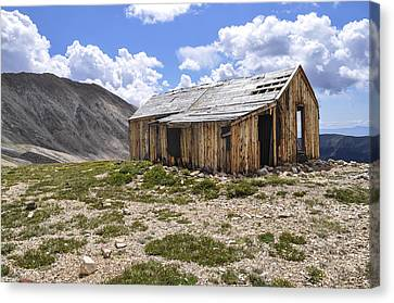 Old Mining House Canvas Print by Aaron Spong