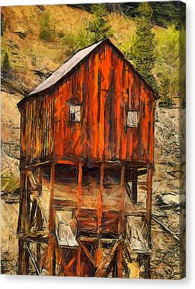 Old Mining Mill Canvas Print by Dan Sproul