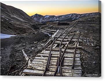 Old Mining Tracks Canvas Print by Aaron Spong