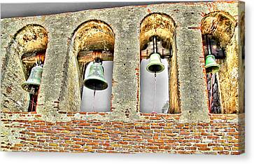Old Mission Bells Canvas Print by Jason Abando