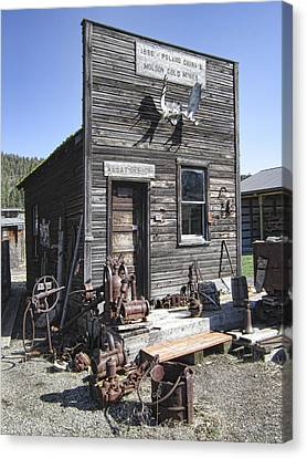 Miners Ghost Canvas Print - Old Molson Ghost Town Assay Office by Daniel Hagerman