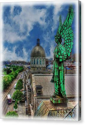 Old Montreal Angel II Canvas Print by Lee Dos Santos