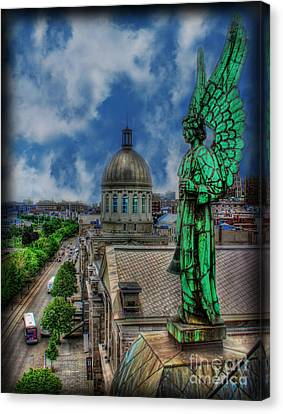 Old Montreal Angel Canvas Print by Lee Dos Santos
