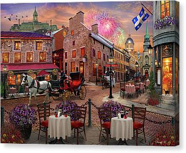 Old Montreal Canvas Print by David M ( Maclean )