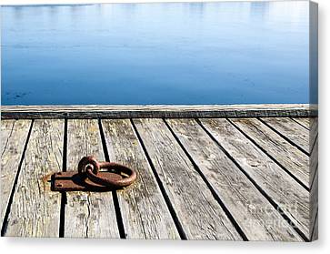 Canvas Print featuring the photograph Old Mooring Loop by Kennerth and Birgitta Kullman