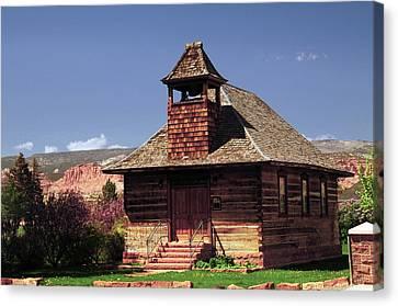 Old Mormon Church, Torrey, Utah, Usa Canvas Print by Michel Hersen