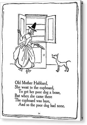 Old Mother Hubbard, 1913 Canvas Print by Granger