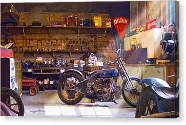 Mike Canvas Print - Old Motorcycle Shop 2 by Mike McGlothlen