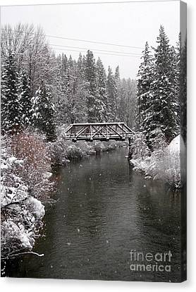 Old Nason Creek Bridge Canvas Print by KD Johnson