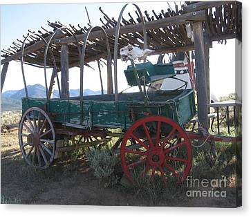 Canvas Print featuring the photograph Old Native American Wagon by Dora Sofia Caputo Photographic Art and Design