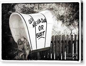 Old Nevada Or Bust Canvas Print
