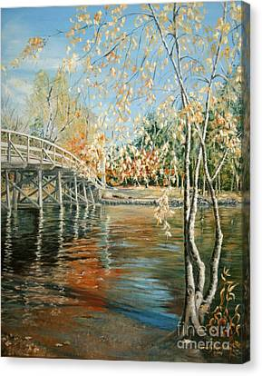 Old North Bridge Concord Canvas Print by Wendy Griffiths