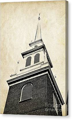 Old North Church In Boston Canvas Print by Elena Elisseeva