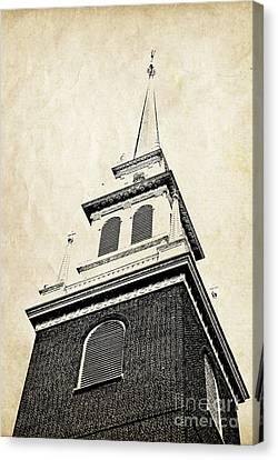 Old North Church In Boston Canvas Print by Elena Elisseeva