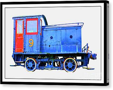 Old Number 9 - Small Locomotive Canvas Print