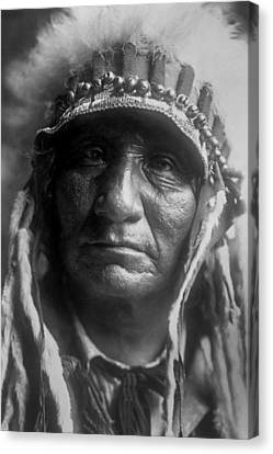 Old Man Canvas Print - Old Oglala Man Circa 1907 by Aged Pixel
