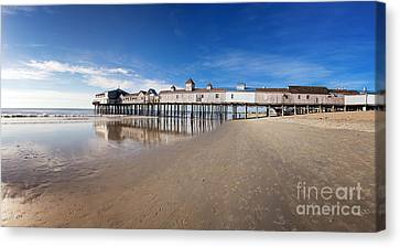Old Orchard Beach Panorama Canvas Print by Jane Rix