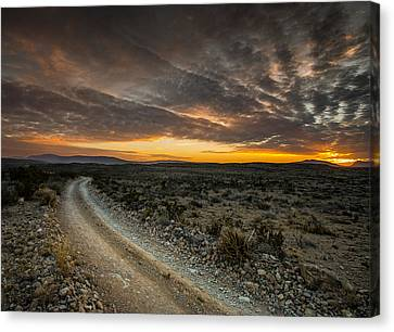 Old Ore Road Sunset Canvas Print by Allen Biedrzycki