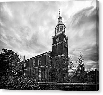 Old Otterbein Church In Black And White Canvas Print by Bill Swartwout