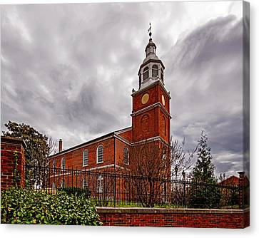 Old Otterbein Country Church Canvas Print by Bill Swartwout