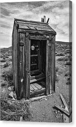 Old Outhouse Canvas Print by Garry Gay