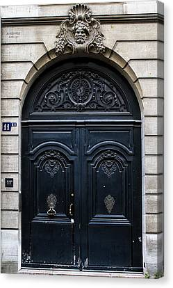Old Parisian Door Canvas Print