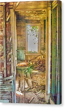 Canvas Print featuring the photograph Old Pastel House by Kimberleigh Ladd