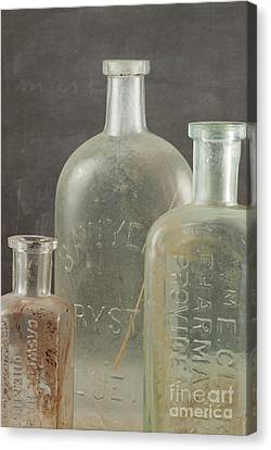 Old Pharmacy Bottle Canvas Print by Juli Scalzi
